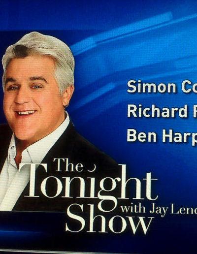 Tony meets with Jay Leno of the Tonight Show March 8, 2010