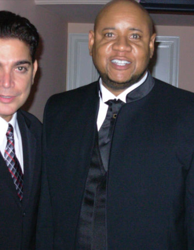Michael Delorenzo and David Faustino with Tony