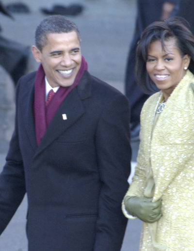 The 44th President Barack Obama & First Lady Michelle Obama Inauguration Day 1-20-09.