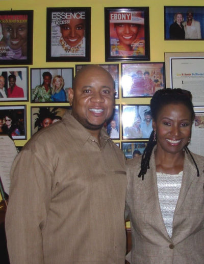 May 2006 B. Smith welcomes Tony with Style & Charm in her N.Y. Restaurant